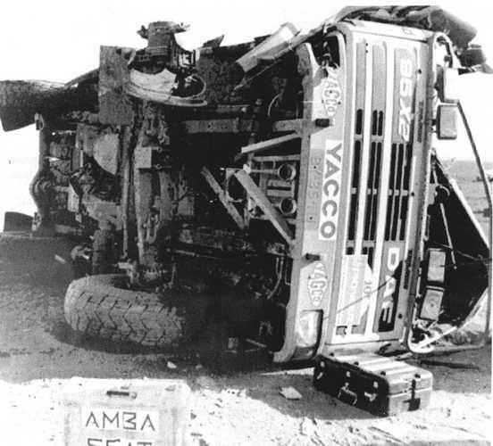 Theo van de Rijt, Kees van Loevezijn, Chris Ross - Daf 3600 Twin Turbo - 1988 - Paris Dakar