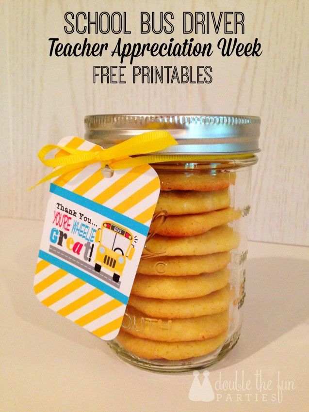 School Bus Driver Appreciation Free Printables + Lemon Jell-o Cookies | Double the Fun Parties | Cupcake Wishes and Birthday Dreams