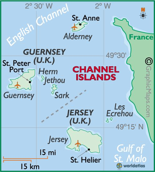channel islands large colour map