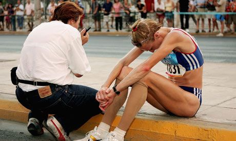 50 stunning Olympic moments No19: Paula Radcliffe pulls up in Athens