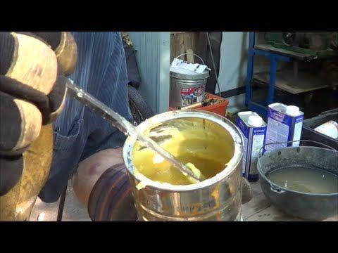 Blacksmithing - Making Some Blacksmith Juice or Goop Protective Coating For Finishing Forged Items - YouTube