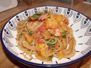 Gem squash and spinach pasta #recipe