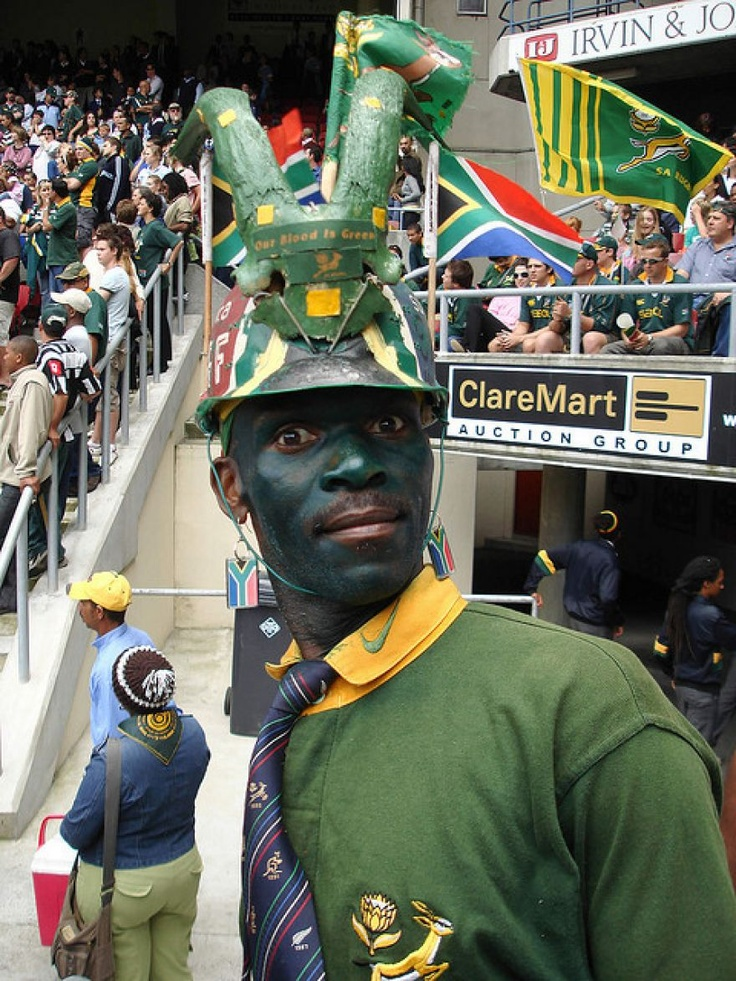 South African rugby supporter