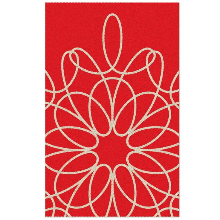 Ribbon Red Area Rug