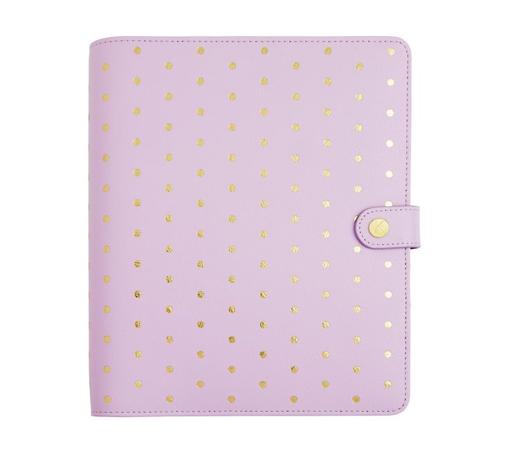 Limited edition online exclusive!  Be inspired to add a beautiful and feminine style to your days and get organised in style with this beautiful Lilac Personal Planner featuring gold polka dots. With unique gold divider tabs and stickers to decorate, love setting up a section for each area of your life; writing down all of your appointments, reminders, action points and inspirations.  Not all accessories included.