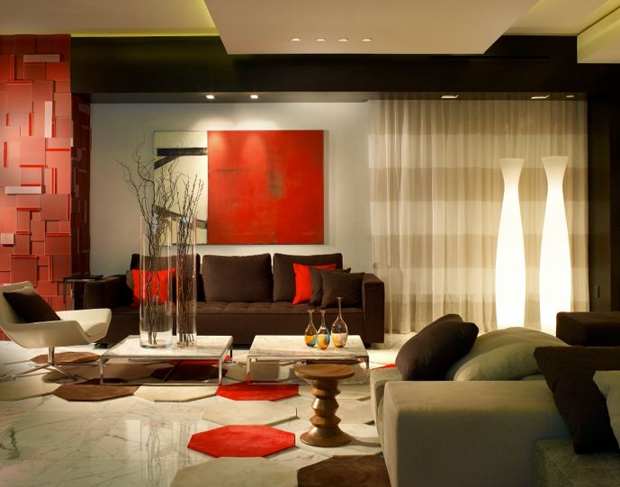 interior design modern beach interior design red nuance with glass place for vegetation the