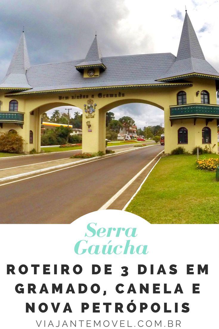 Um Roteiro de viagem de 3 dias na Serra Gaúcha, visitando as cidades de Gramado, Canela e Nova Petrópolis que fazem parte da Rota Romântica Brasileira. http://viajantemovel.com.br/pt/roteiro-de-tres-dias-em-gramado-canela-nova-petropolis/
