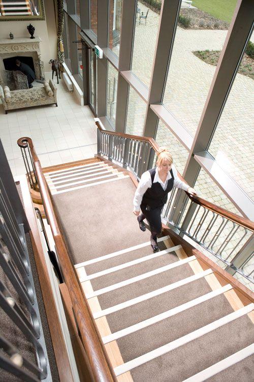 Contrasting stair nosings