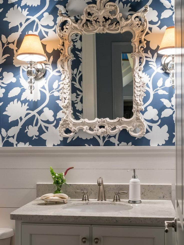 137 Best Images About Powder Room Ideas On Pinterest | Hale Navy