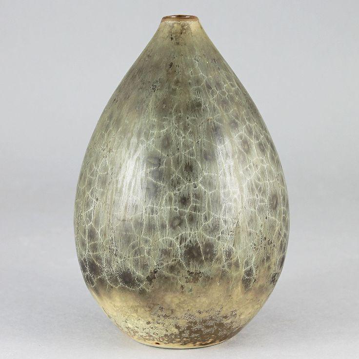 Carl-Harry Stalhane (SOA 1950s) Remarkable  Rough Raindrop Vase