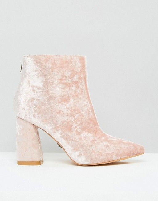 Daisy Street   Daisy Street - Stivaletti a punta in velluto rosa effetto screziato con tacco