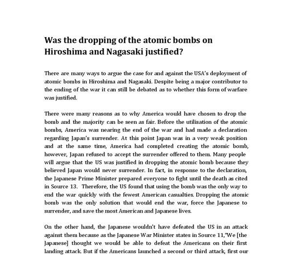 atomic bomb hiroshima first atomic bomb hiroshima  bombing hiroshima nagasaki justified essay performance professional