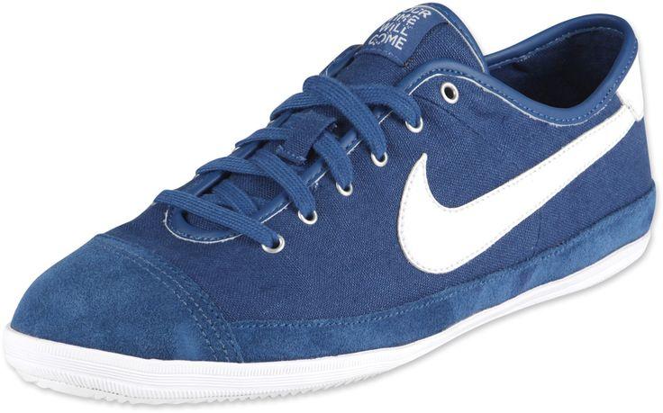 Heren Dames Nike Flash Canvas Sneakers Marineblauw Wit,HOT SALE!