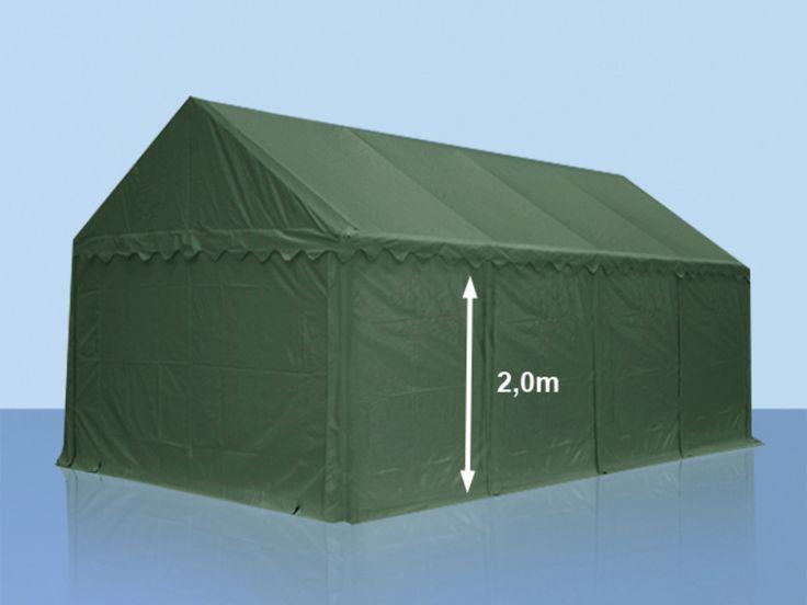 Lagerzelt 4x6m PVC dunkelgrün Unterstand, Lager