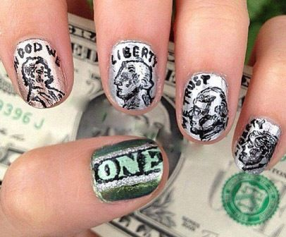 9 best best dollar nail art designs images on pinterest nail art free hand dollar nail art prinsesfo Images