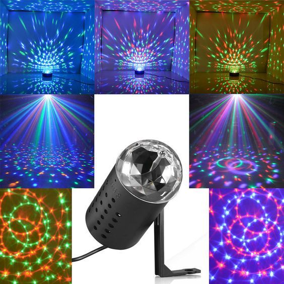 Mini Projector DJ Disco Light Stage R&G Party Laser Lighting Show Plug Black in Musical Instruments & Gear, Stage Lighting & Effects, Stage Lighting: Single Units | eBay