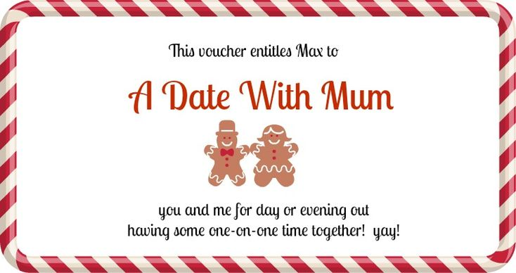 Every #Christmas I give my #kids a voucher they can redeem for a date with ME!!  Here are some other ideas too for Experience Vouchers: http://myprojectme.com/create-christmas-vouchers-pic-monkey/?utm_campaign=coschedule&utm_source=pinterest&utm_medium=Project%20Me%20for%20Busy%20Mothers