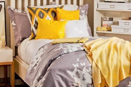 Zen Bedrooms | Grey + Yellow Bedroom Decorating Ideas