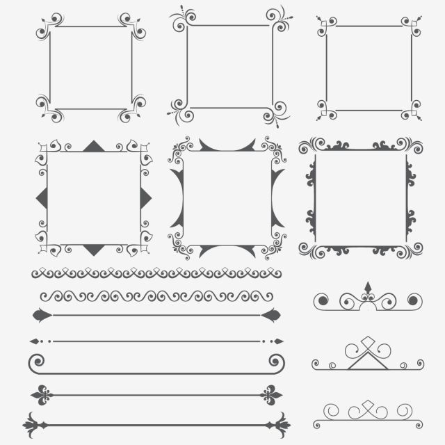 Ornament Frame And Dividers Design Elements Ornament Swirl Vintage Png And Vector With Transparent Background For Free Download In 2021 Ornament Frame Design Elements Free Vector Ornaments