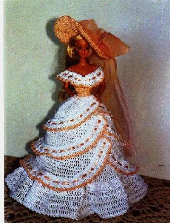 Crochet Fashion Doll Barbie Pattern 171 TEA by JudysDollPatterns