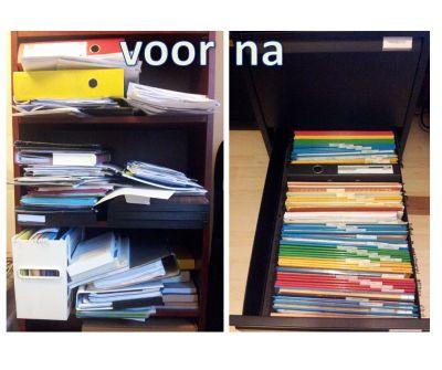 Stapels, stapels en nog eens stapels. Belangrijke papieren sorteren, organiseren en archiveren in vb. een archiefkast. Nuttige tips in het blogbericht.