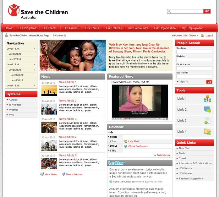 68 best Intranet images on Pinterest   Design web, Interface ...