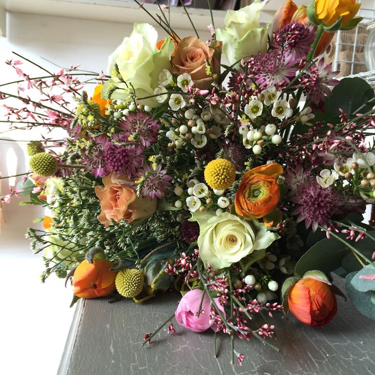 Hand tied spring bouquet