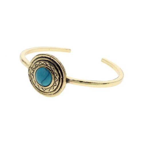 Turquoise-Stone-Vintage-Antique-Gold-Cuff-Bracelet