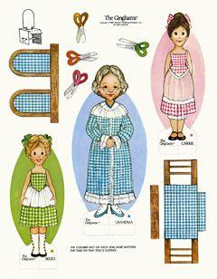 Ginghams Paper Dolls: