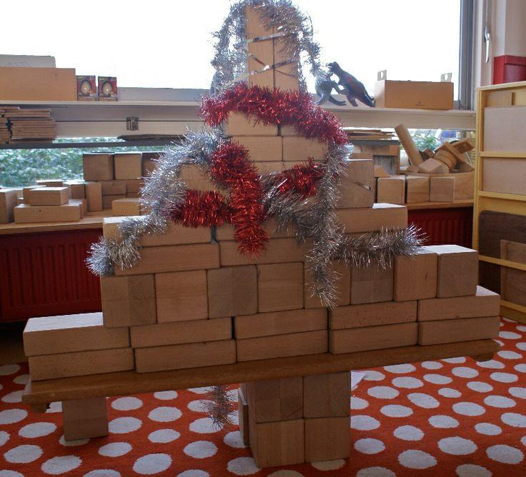 Bouwhoek in kerstsfeer