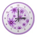 Purple Daisy Wall Clock - April Birth Flower Gifts! - #daisygifts #aprilbirthdays #aprilbirthdaygifts