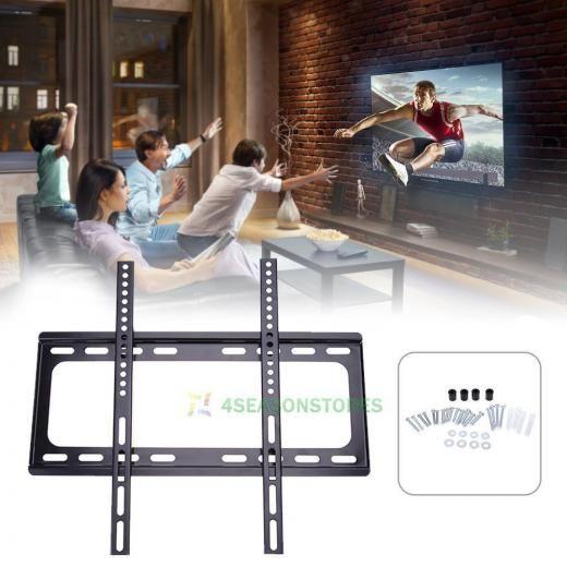 Universal 32-60inch Led Lcd Tv Background Wall Mount Hanging Holder Bracket Rack Black Steel Integrated 400 X 45kg Brackets
