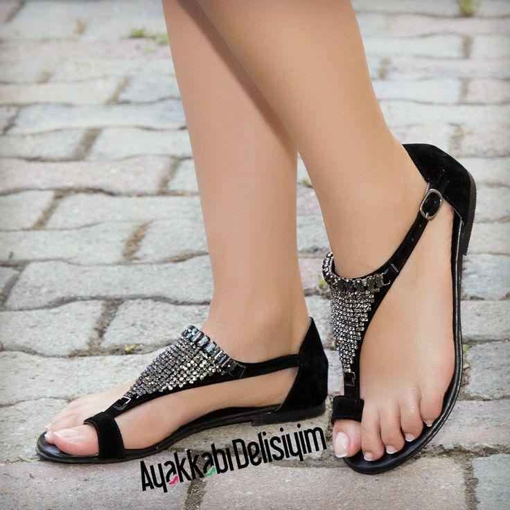 Siyah Sandalet #sandals #black #shoes