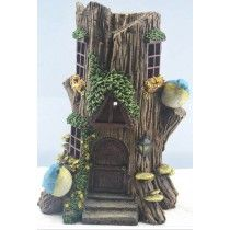 Solar Stump Fairy House