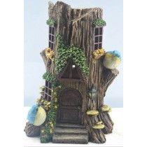 Solar Stump Fairy House