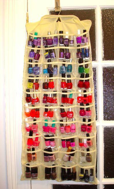 Nagellacksförvaring som kan hängas upp Smart storage solution for nail polish
