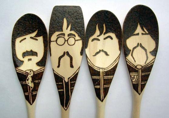 Beatles wooden spoon set