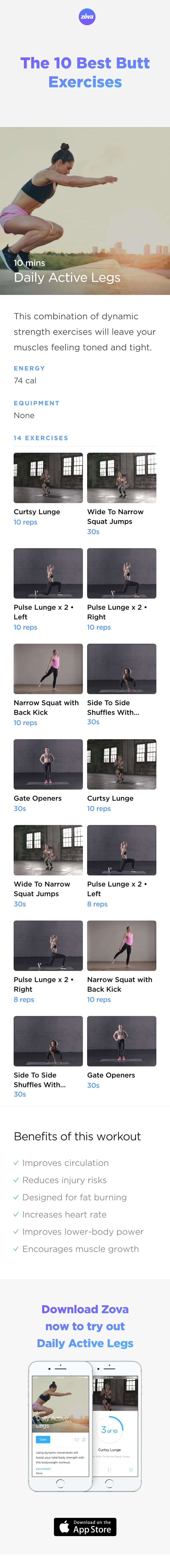 All you need in order to create the booty of your dreams is a mix of dynamic and fast exercises targeted to your lower body. These 10 butt exercises will firm up and shape your muscles, while improving your strength and mobility. Just find 10 minutes in your day to work on your behind. Easy! #butt #workout #HIIT #fitness #booty