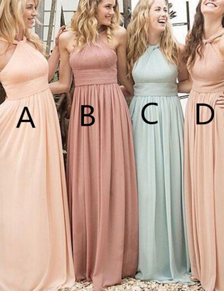 Find a Simple Halter Light Pink/Blush/Aqua Bridesmaid Dress Satin Bridesmaid Dresses Cheap Bridesmaids Gowns For Wedding Party Online Shop For U !
