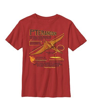 Red Pteranodon Facts Tee - Youth #zulily #zulilyfinds