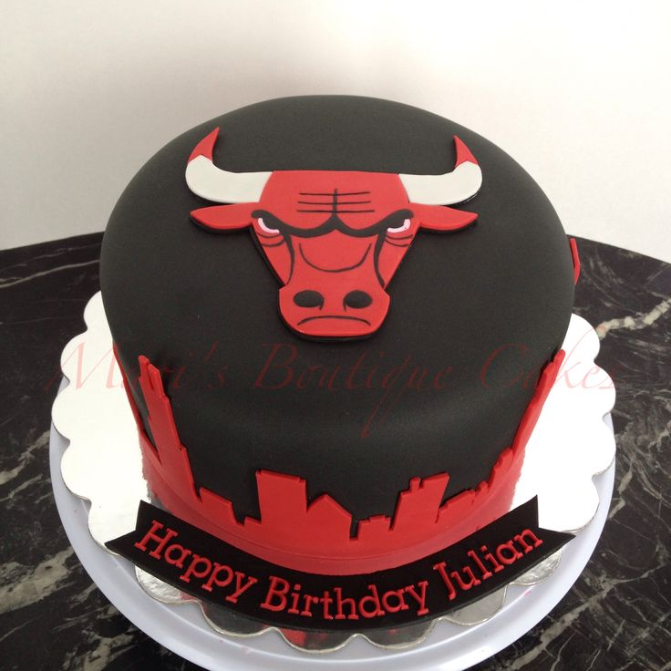 Chicago Bulls Cake - by Mari's Boutique Cakes