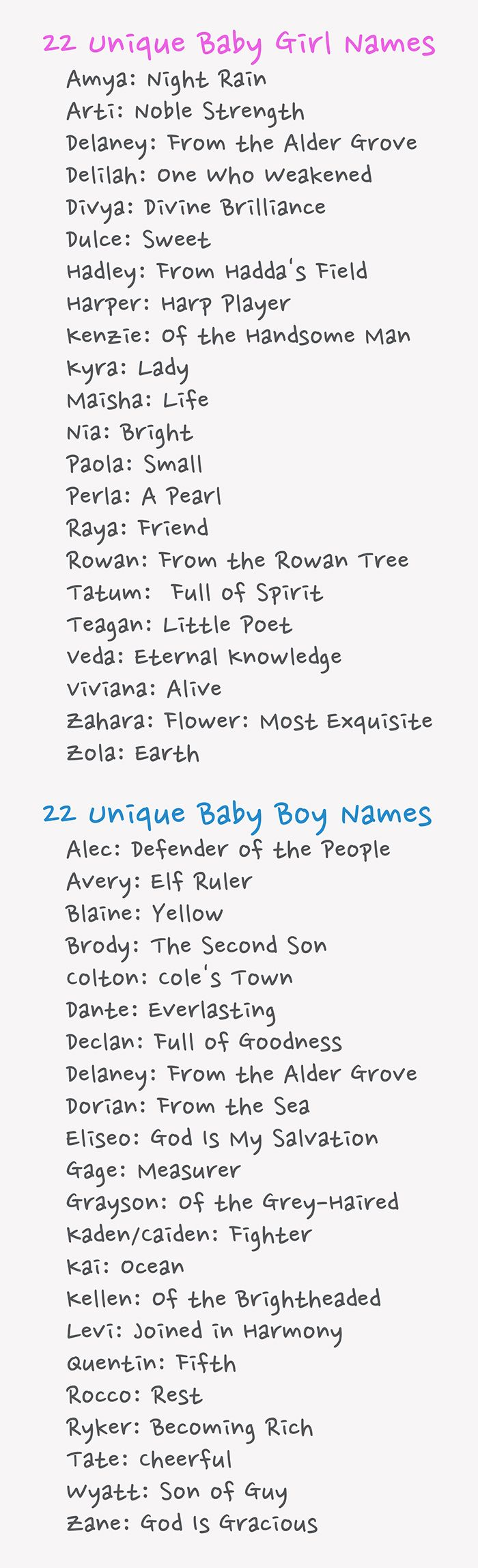 Unique Baby Names; my sons name made the list. :)