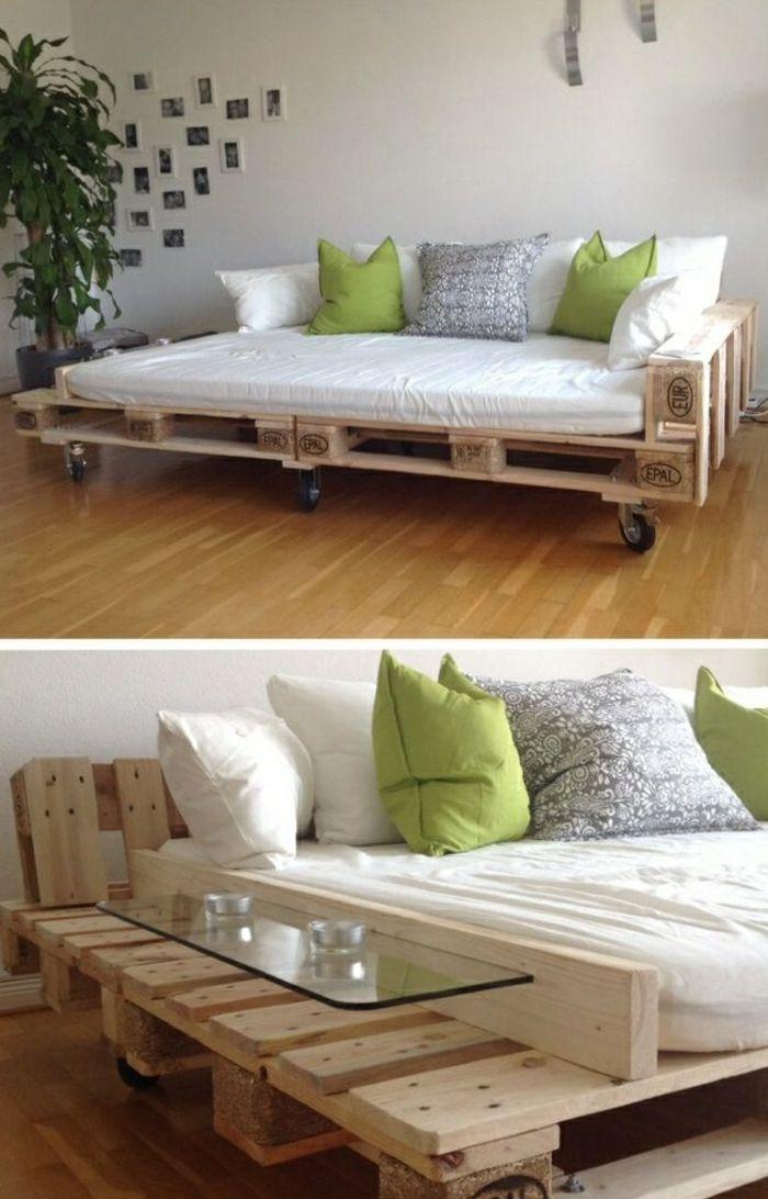 Table d'appoint pour canapé, palette de meubles recyclés, pratique – # table de chevet # pa …