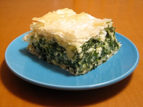 Amy Sedaris's spanakopita...my mom never used cream cheese or cottage cheese, but it's all Greek to me and oh so good!