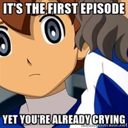 IT'S SO TRUE! Shindou kept crying episode after episode after episode and wouldn't STOP.