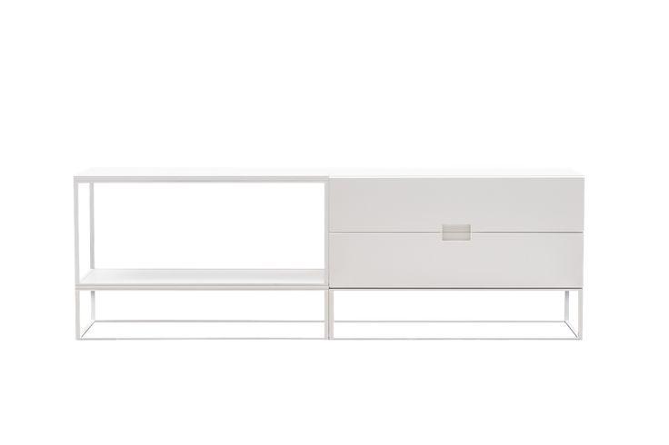 OBJEKTE UNSERER TAGE - FISCHER Design No. 09, Sideboard, Weiss / Weiss
