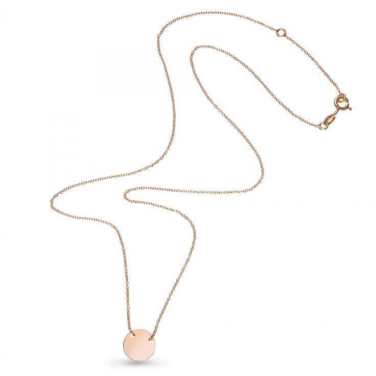Kolekcja TRENDY to delikatne łańcuszki ozdobione minimalistycznymi kształtami, które nigdy nie wychodzą z mody.  Naszyjnik jest wykonany z różowego złota próby 375. Jego prosta i delikatna forma pasuje do każdego stroju i na każdy moment życia – złoty naszyjnik sprawdzi się jako subtelna biżuteria na co dzień.   Kolczyki pasują do bransolety i naszyjnika z kolekcji TRENDY, tworzą z nimi idealny zestaw.