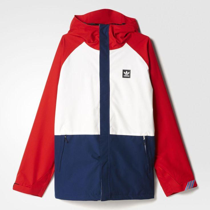 Adidas Originals Riding Miesten Takki Valkoinen Syvä Punainen/Laivastonsininen 37682800KH