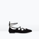 BALLERINES À LACETS - Tout voir - Chaussures - FEMME | ZARA France