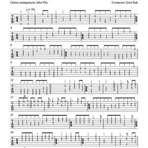 About friendship by Josef Suk - guitar tablature